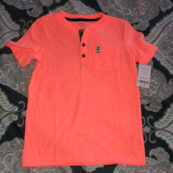 Carter's Other - Bright orange button t-shirt